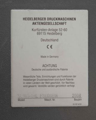 HEIDELBERG XL 105-5+LX Size 75 x 105