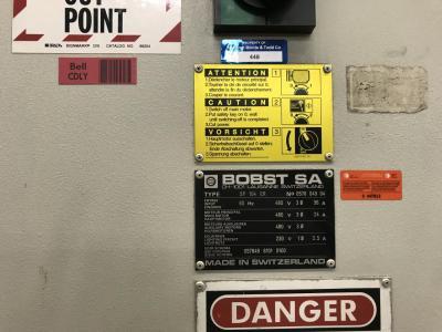BOBST SP 104 ER Size 74 x 104