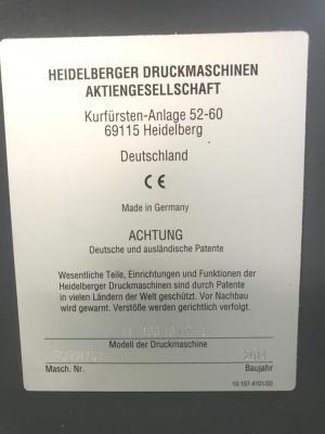 HEIDELBERG XL 106-8-P+L Size 75 x 105