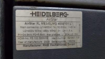 HEIDELBERG CD 102-6+LX Size 72 x 102